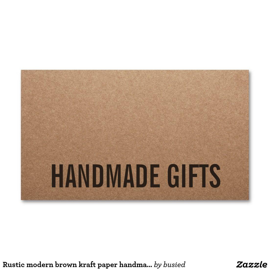 Rustic modern brown kraft paper handmade cardboard Double-Sided ...