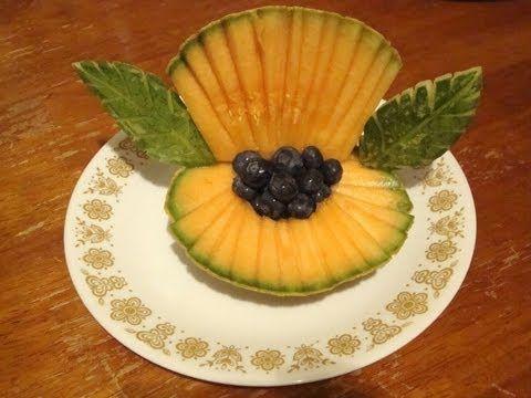 ▶ Concha de mar con un melon, decoraciones con fruta - YouTube