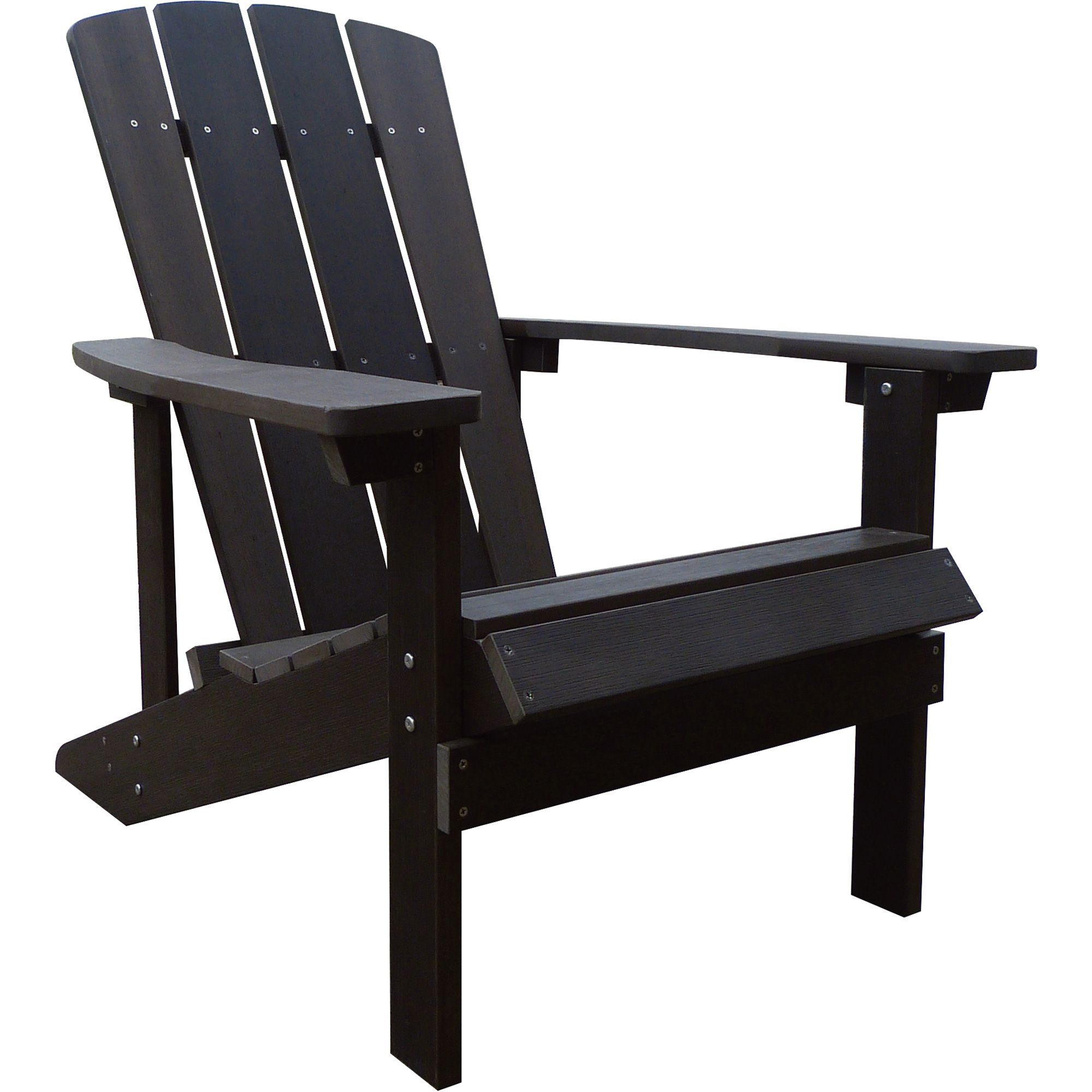 Stonegate Designs Resin Adirondack Chair — Fixed Styling Chocolate
