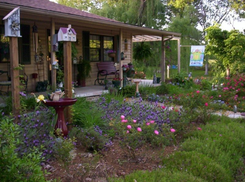 Front Yard Country Landscaping Ideas Homelook Regarding Cottage For