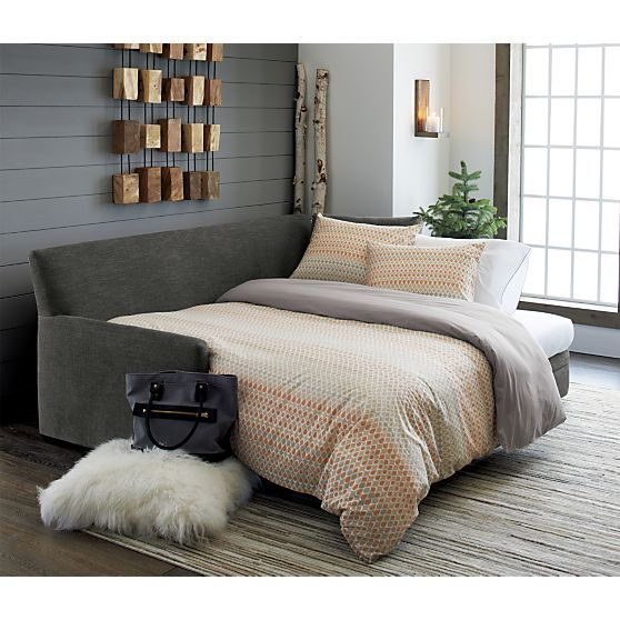 Reston Queen Trundle Sofa Reviews Crate And Barrel Sleeper
