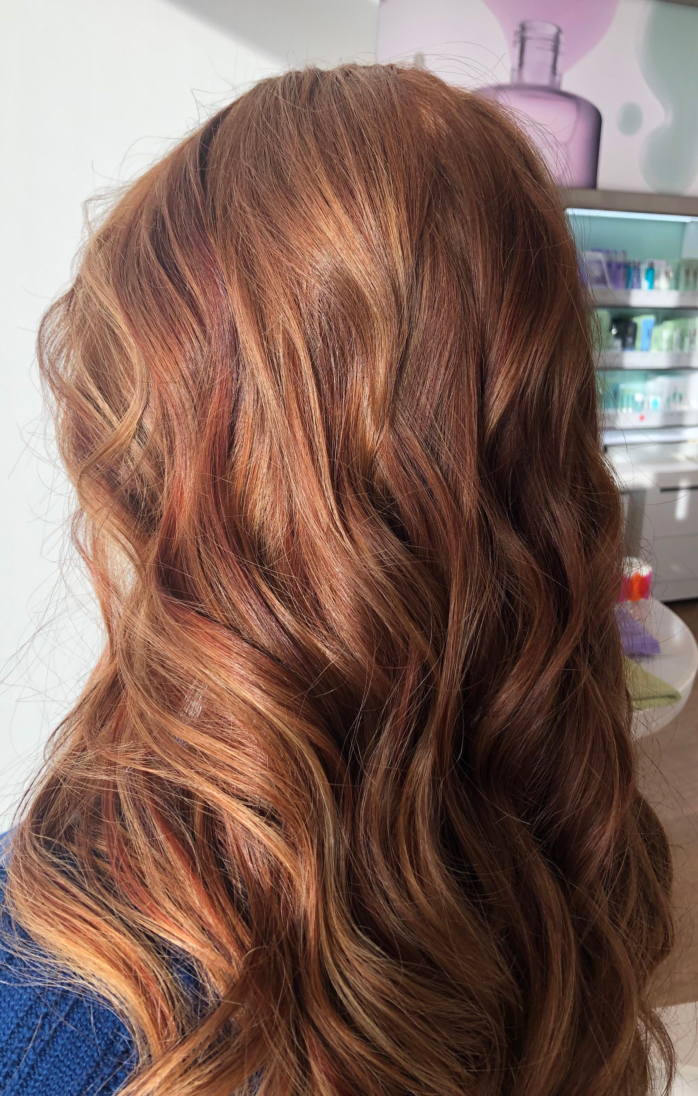 A beautiful balayage fall dimension with deep red low lights