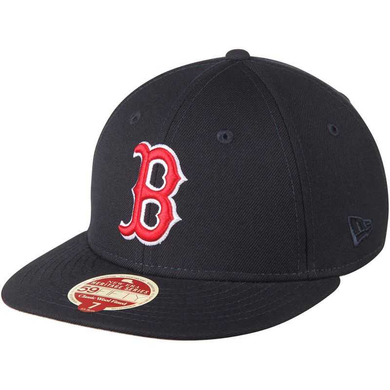 31374b3d Boston Red Sox New Era Low Crown Classic Wool 59FIFTY Fitted Hat - Navy