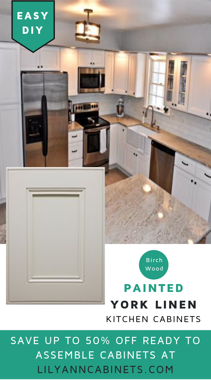 Lilyanncabinets Off White Color York Linen Kitchen Cabinets Brings A Cool Airy Look Kitchen Cabinets Kitchen Cabinets In Bathroom Kitchen Cabinets Makeover