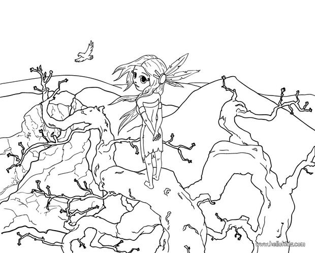 Stunning American Girl Coloring Pages 66 Native American girl coloring