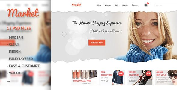 Discount Deals Market - eCommerce, Retail, Shopping PSD we are given they also recommend where is the best to buy