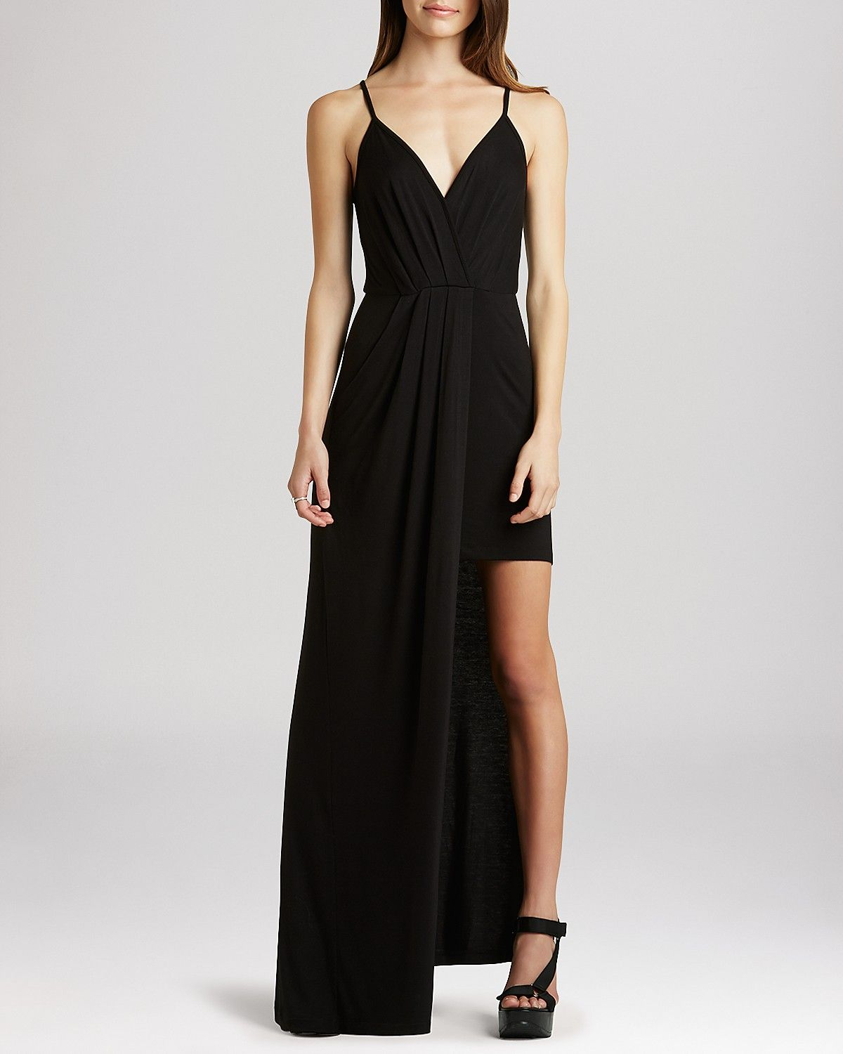 BCBGeneration Dress - Cross Front Maxi | Bloomingdale's