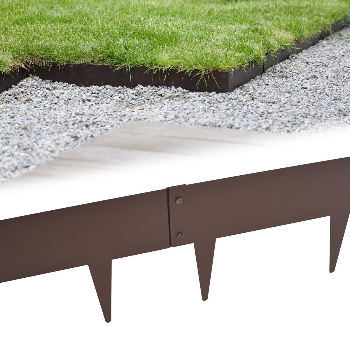 des bordures souples en acier pour une finition au carr les graviers envahissent la pelouse. Black Bedroom Furniture Sets. Home Design Ideas