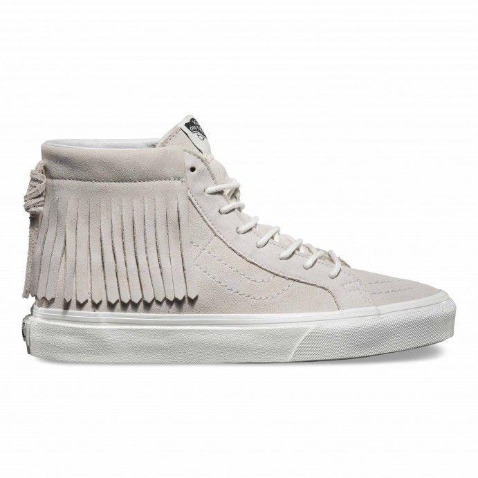 Vans SK8-Hi Moc Shoes (Suede) blanc de blanc - Vans Ireland Official