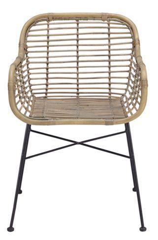 Stuhl aus Metall und Holz