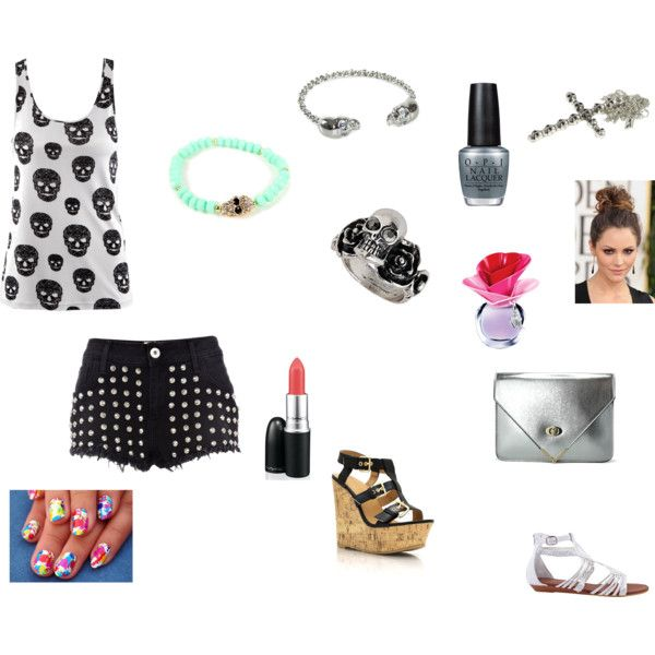 """Skulls And Blood"" by unarmedlove on Polyvore"