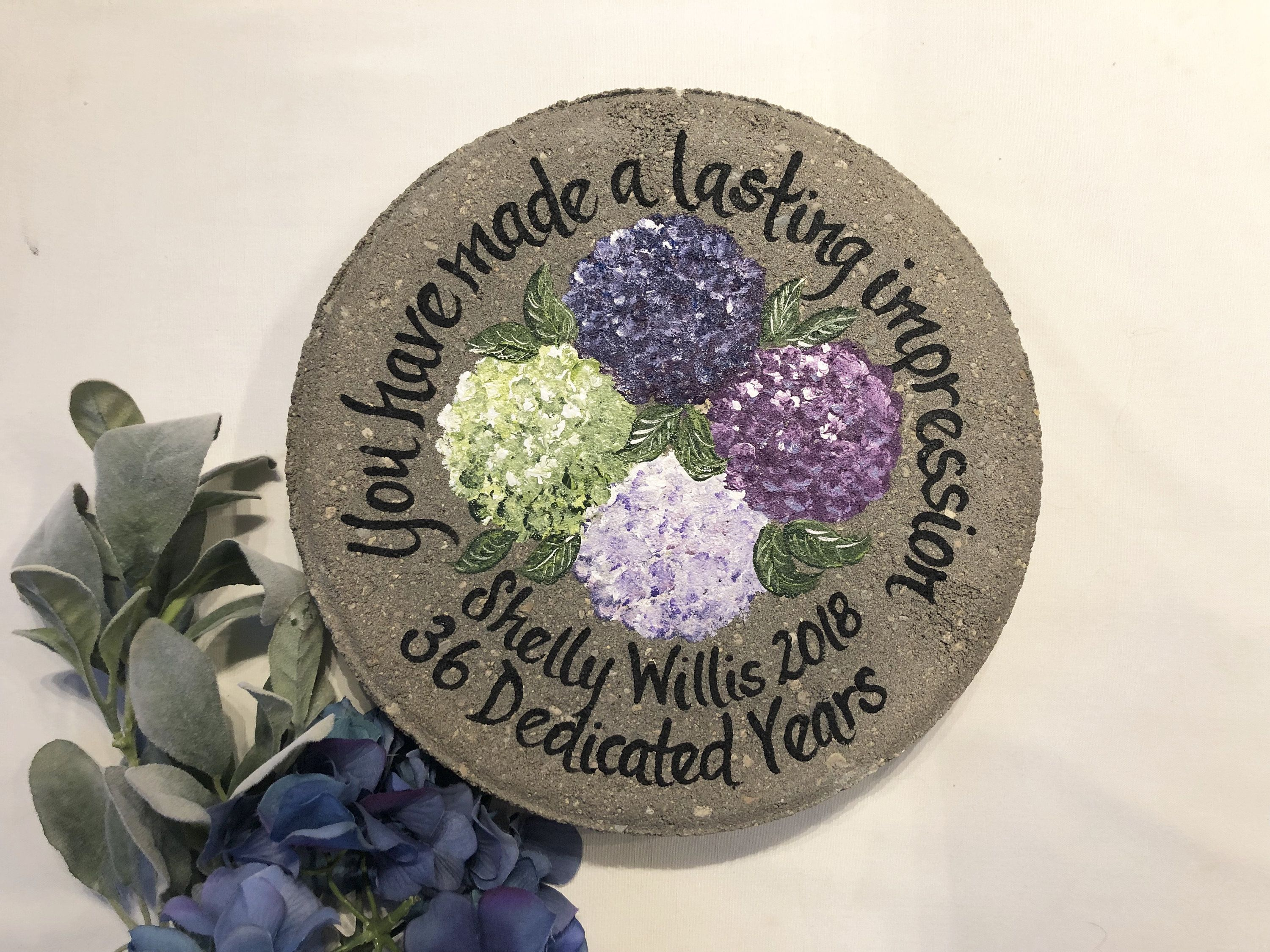 Employee Appreciation GIFTS, Personalized Employee Gift Ideas, Retirement Gift, Retirement Gifts, Painted Hydrangeas, Employee Appreciation