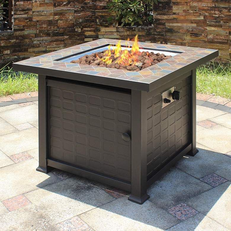 Tahoe 30 Square Slate Top Gas Outdoor Fire Pit Table 79d56 Lamps Plus Outdoor Fire Pit Table Fire Pit Table Gas Fire Pits Outdoor Gas fire pits for sale