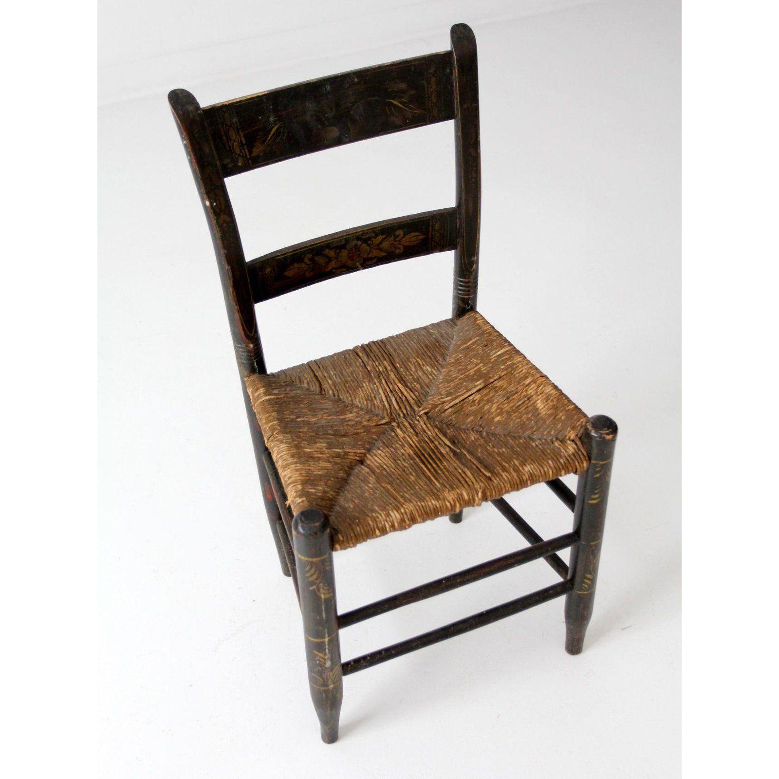 Ethan Allen Nutmeg Black Hitchcock High Back Duxbury Accent Chair 14 6072 Accent Chairs Chair Vintage Furniture