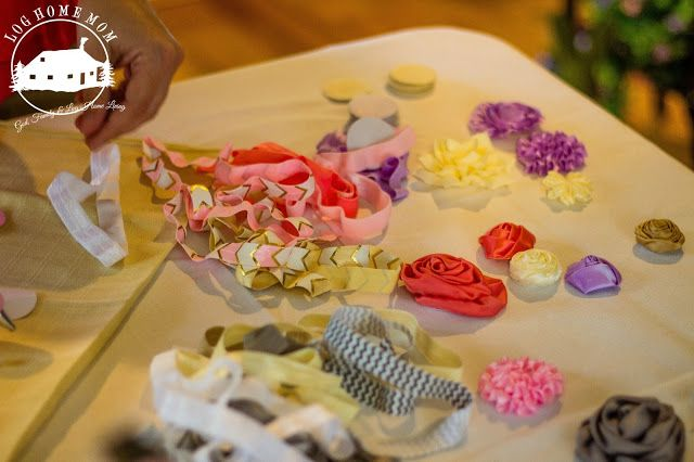 Baby Headband Station Tutus and Tiaras Baby Shower