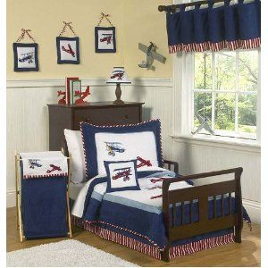 Kid Decor · Little Boy Bedroom With Vintage Airplanes