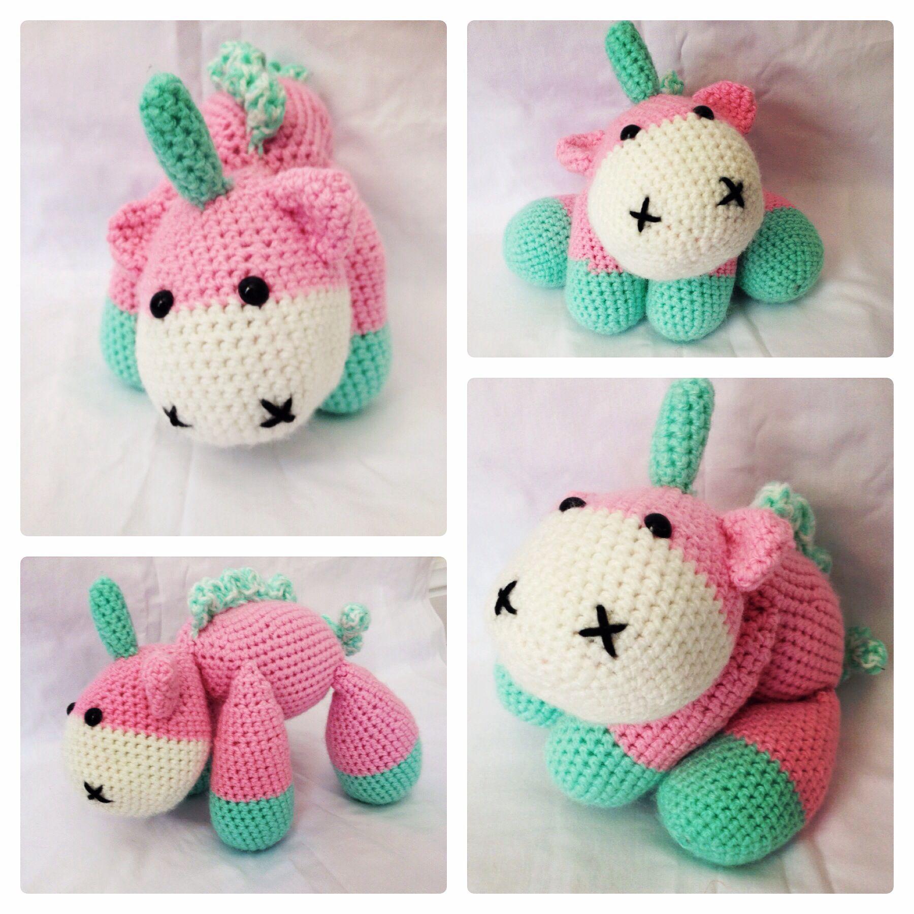 My first crochet unicorn http://littleyarnfriends.com/post ...