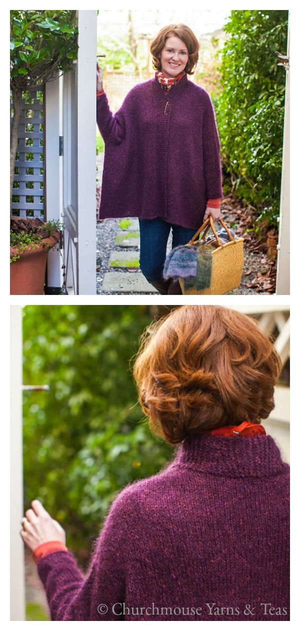 Modern Wrapper Knitting Pattern #knittingsweater #knittingpatterns #sweaterpattern