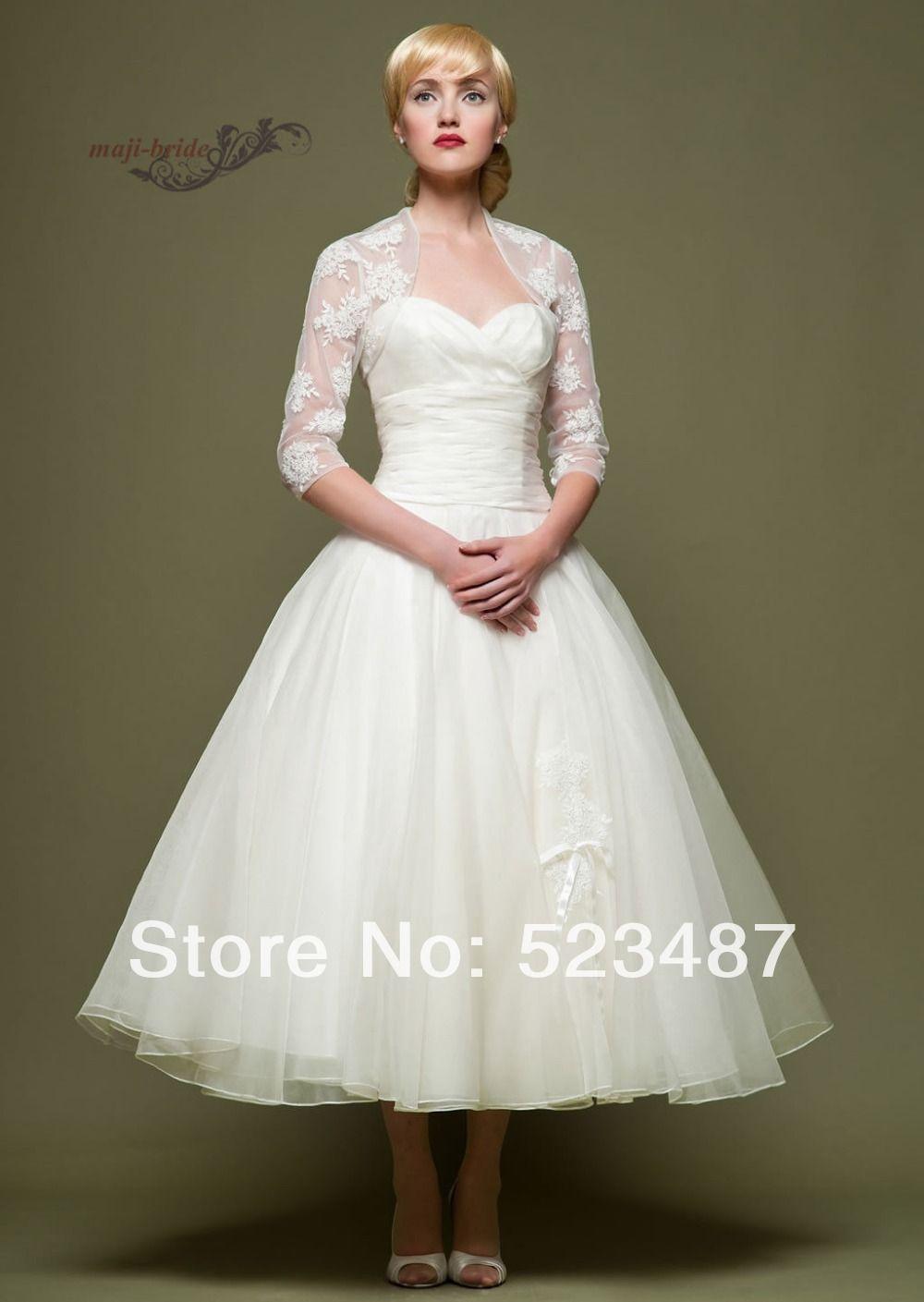 Trouwjurken On Aliexpress Com From 167 0 Short Wedding Dress Ankle Length Wedding Dress Tea Length Wedding Dress [ 1409 x 1000 Pixel ]