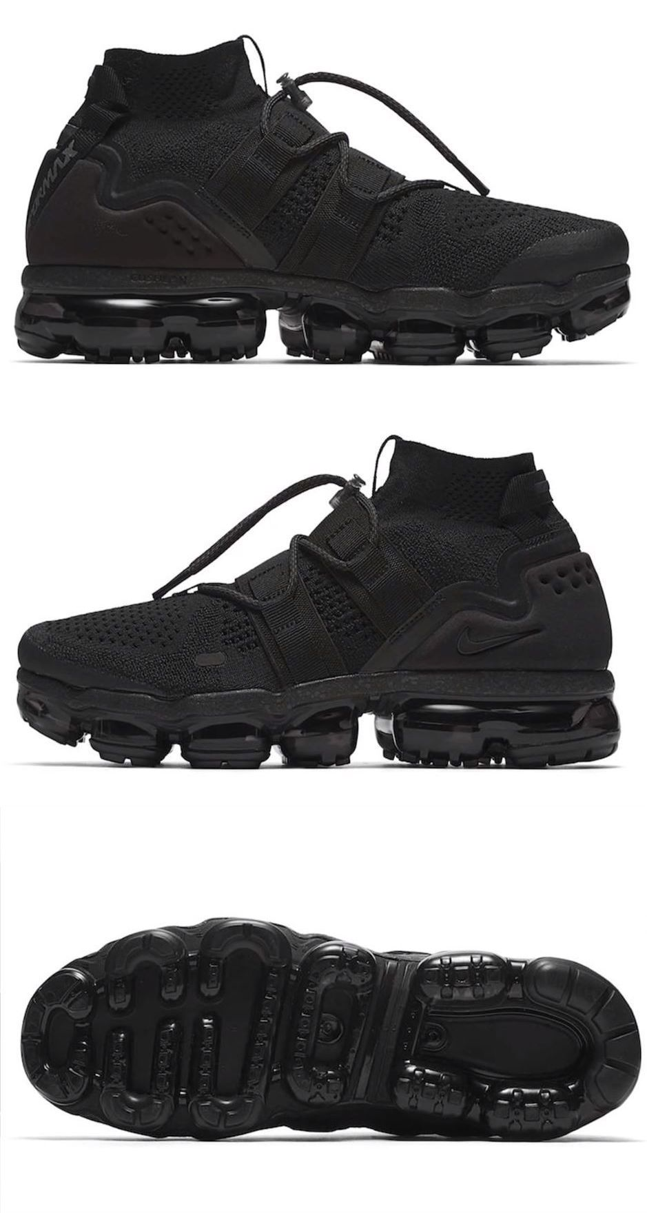 5c4ac5165513 Mens Shoes 93427  Men S Air Vapormax Flyknit Utility Triple Black With Box  Style  Ah6834-001 -  BUY IT NOW ONLY   149.5 on eBay!