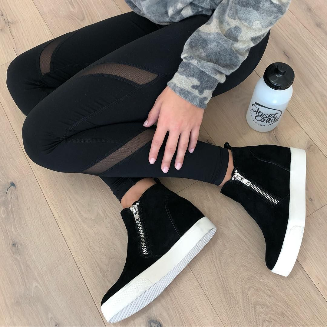 ad7ca3ea62b We ve got it bad for these Steve Madden Wedgie Sneakers. Get yours online  now with free priority shipping!  shopccb  stevemadden  sneakers  shoegame  ...