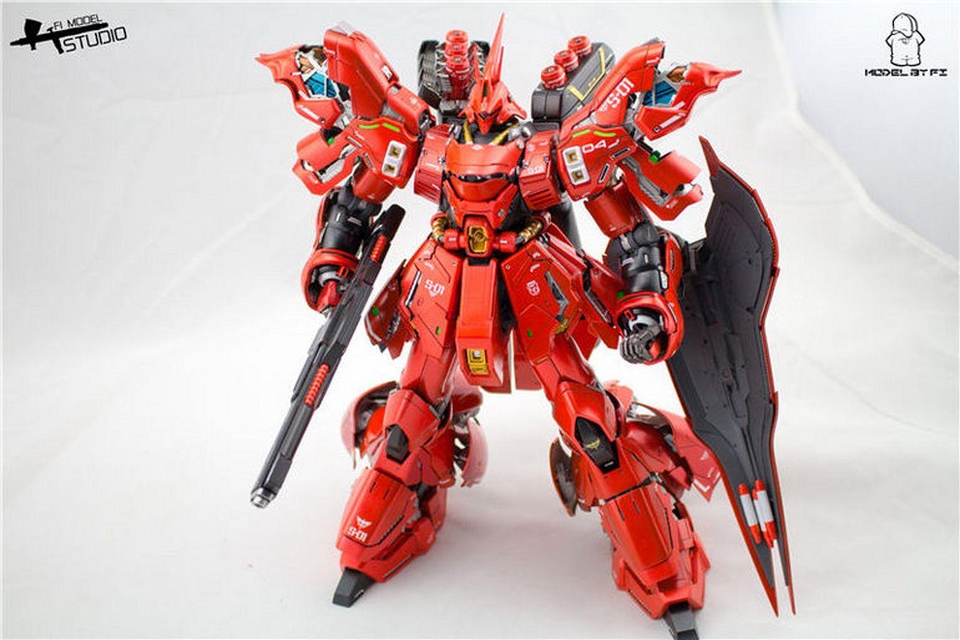 Custom Build: MG 1/100 MSN-04 Sazabi Ver  Ka + Garage Kit