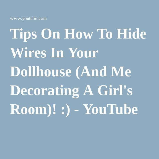 Fine Tips On How To Hide Wires In Your Dollhouse And Me Decorating A Wiring Database Rimengelartorg