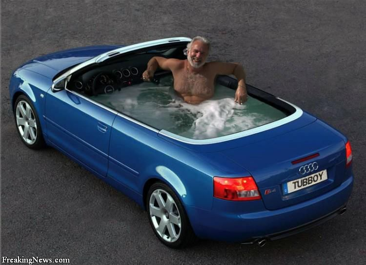 this is really cool to take a bath in your own car stop your car