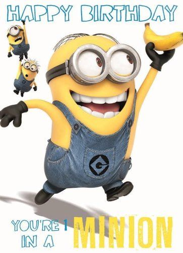 Verachte Mich Minion Happy Birthday Gebutstagskarte 1 In A Minion