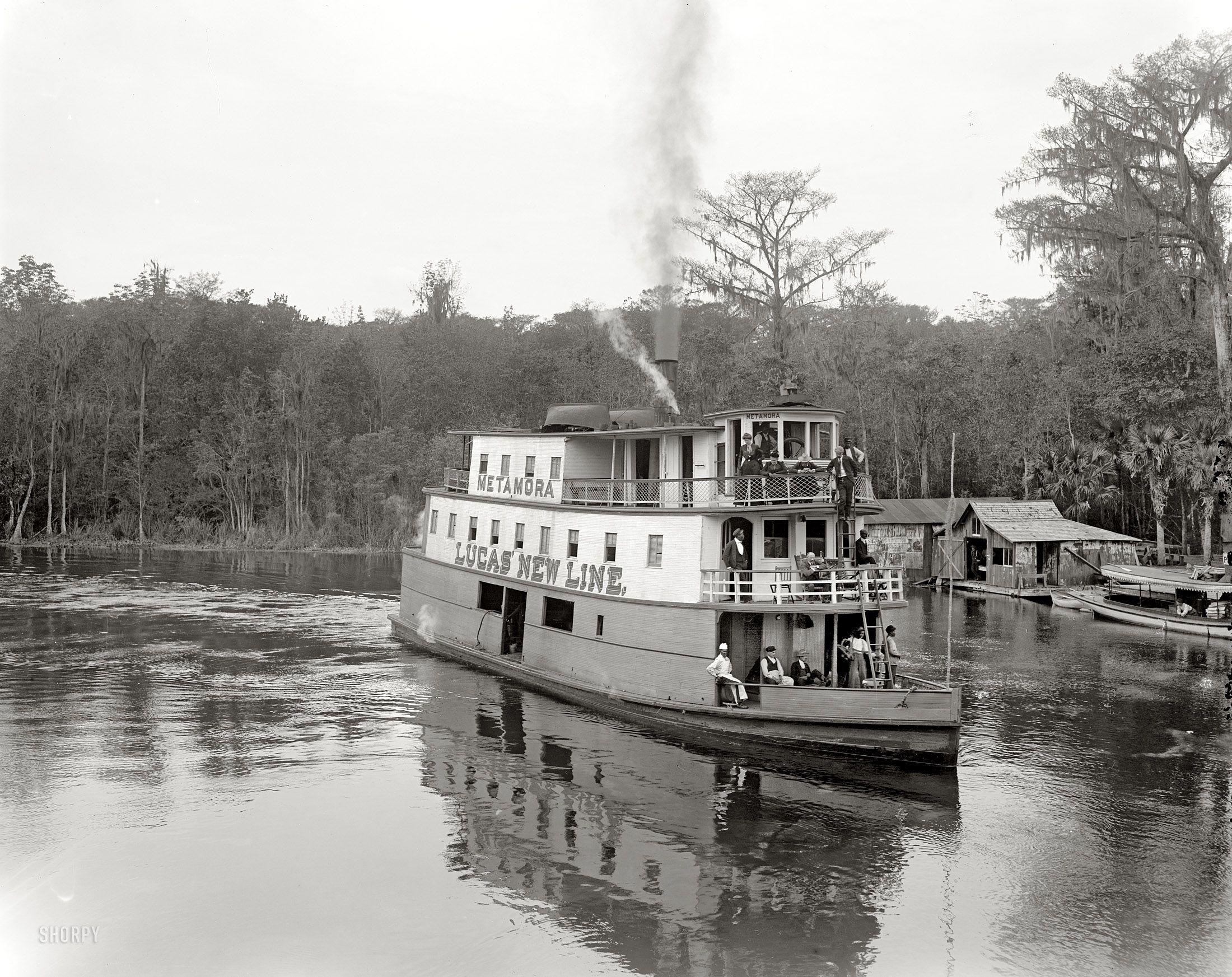"""Florida circa 1902. """"At Silver Springs on the Ocklawaha"""