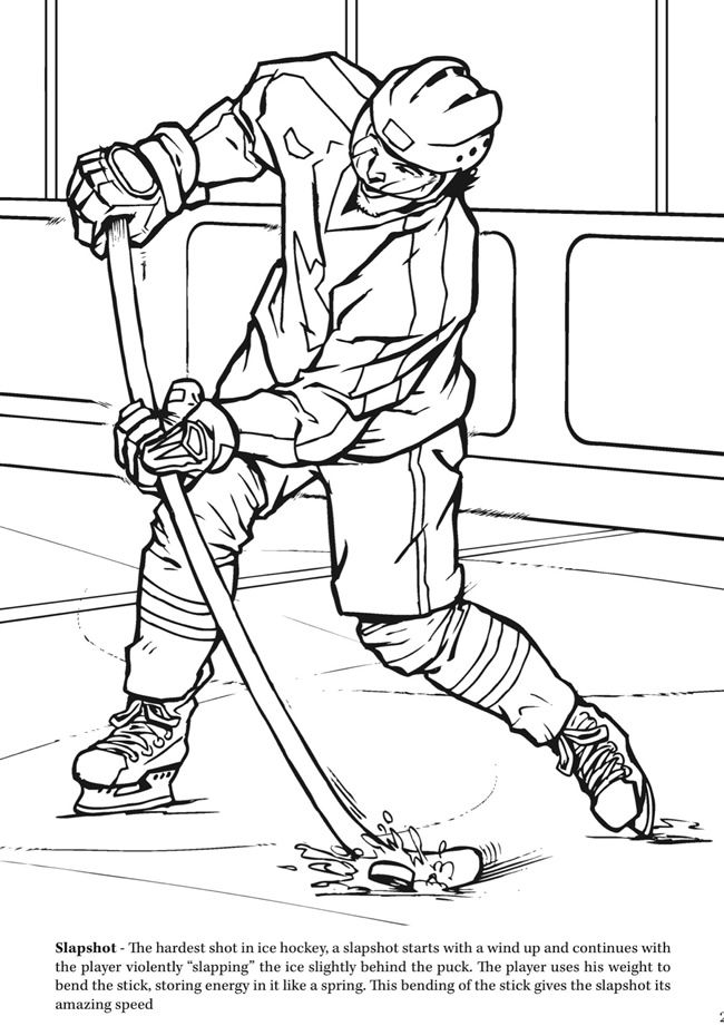 Goal The Hockey Coloring Book Dover Publications Sports