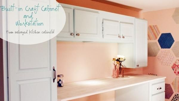 Diy Craft Storage Cabinets From Mismatched Kitchen