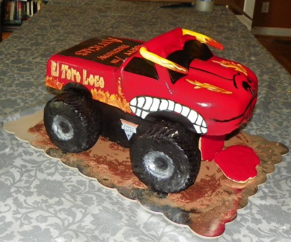 El Toro Loco Monster Truck 3 D Sculpted Cake Dessert
