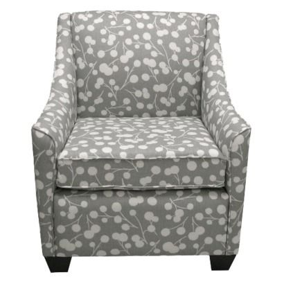 Gray armchair. Can't ever go wrong with gray.