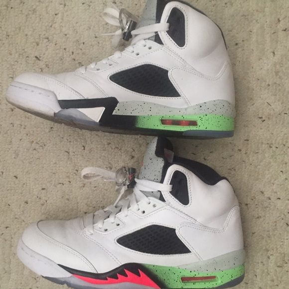 best service 1a42b 5df4f Air Jordan 5 /Space Jam Hightop white, pink, poison green ...