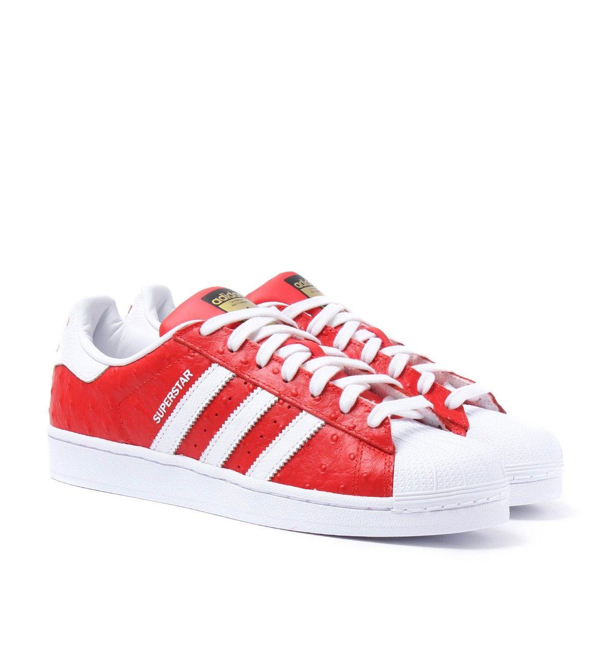 Adidas Originals Superstar Red Ostrich