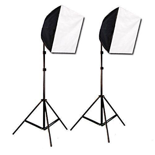 Cowboystudio Photography Photo Studio Video Quick Softbox Lighting Light Kit 600 Watt Output Photography Light Tent Softbox Photography