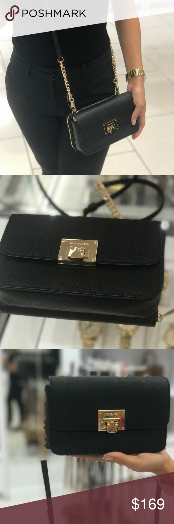 2414889e66ca Michael Kors TINA 2 IN 1 Leather Wallet Clutch MICHAEL Michael Kors Tina  Clutch Crossbody with