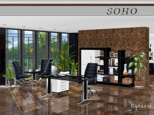 The Sims Resource: Soho Office by NynaeveDesign • Sims 4 Downloads  Check more at http://sims4downloads.net/the-sims-resource-soho-office-by-nynaevedesign/