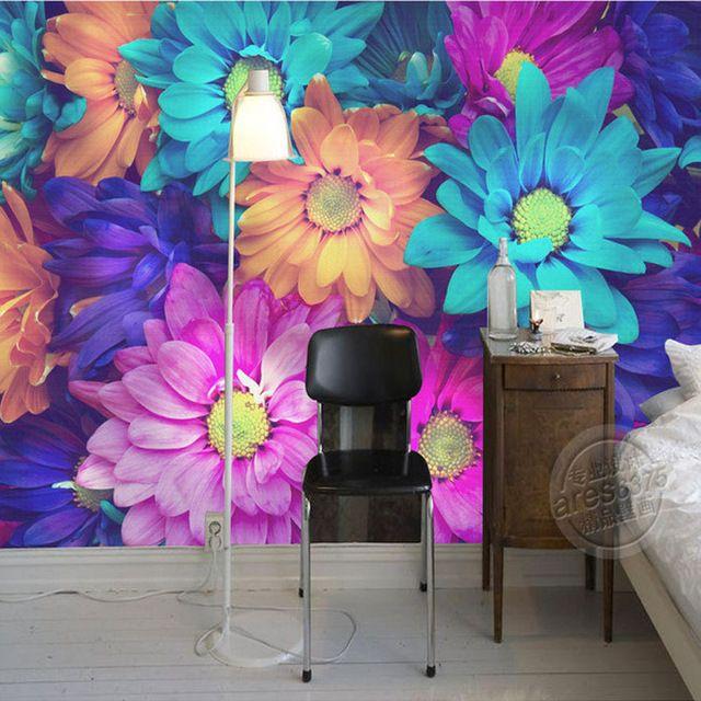 Charming Flowers Wall Mural 3D Wallpaper Natural Scenery Photo Wallpaper  Painting Designer Art Room Decor Bedroom Part 76