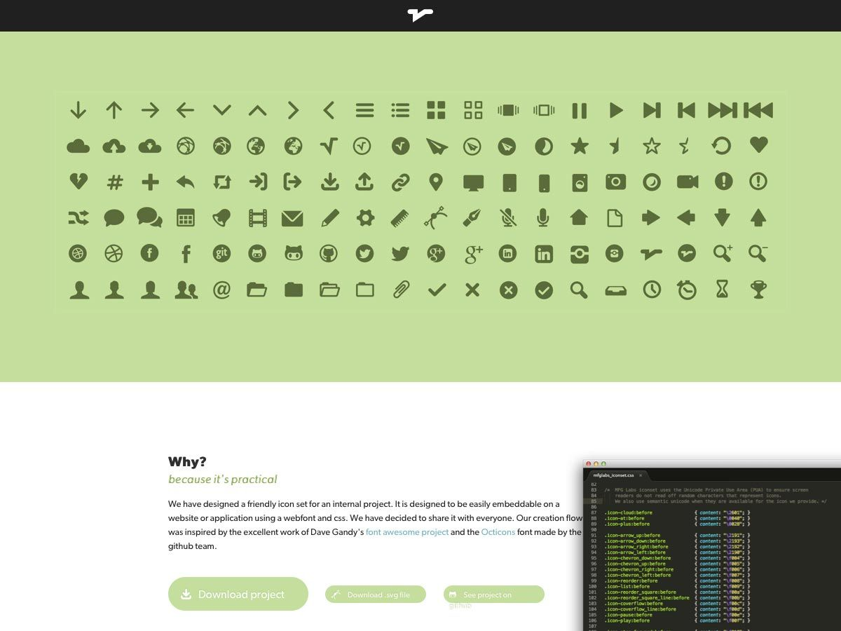 MFG Labs icon set is a friendly icon set that can be embedded in a ...