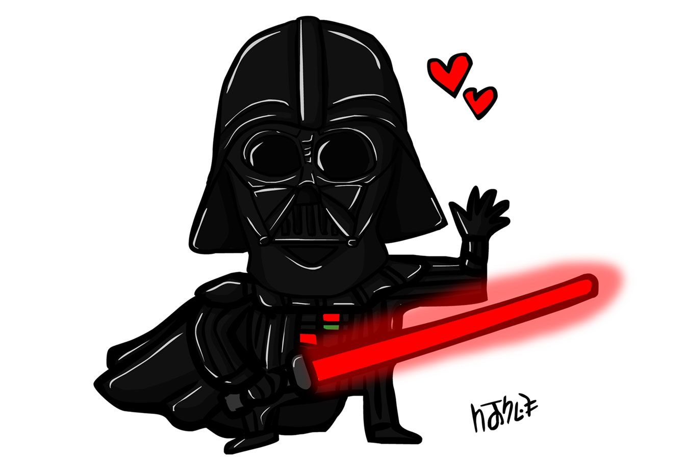 Darth Vader in love | Bea Blanco | Desenho |Love Dark Star