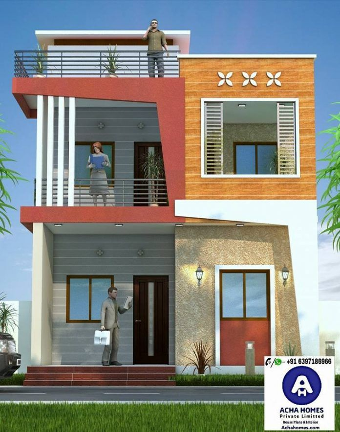 Square feet stylish modern home design with bedrooms indian house plans  also  elevation images in front rh pinterest