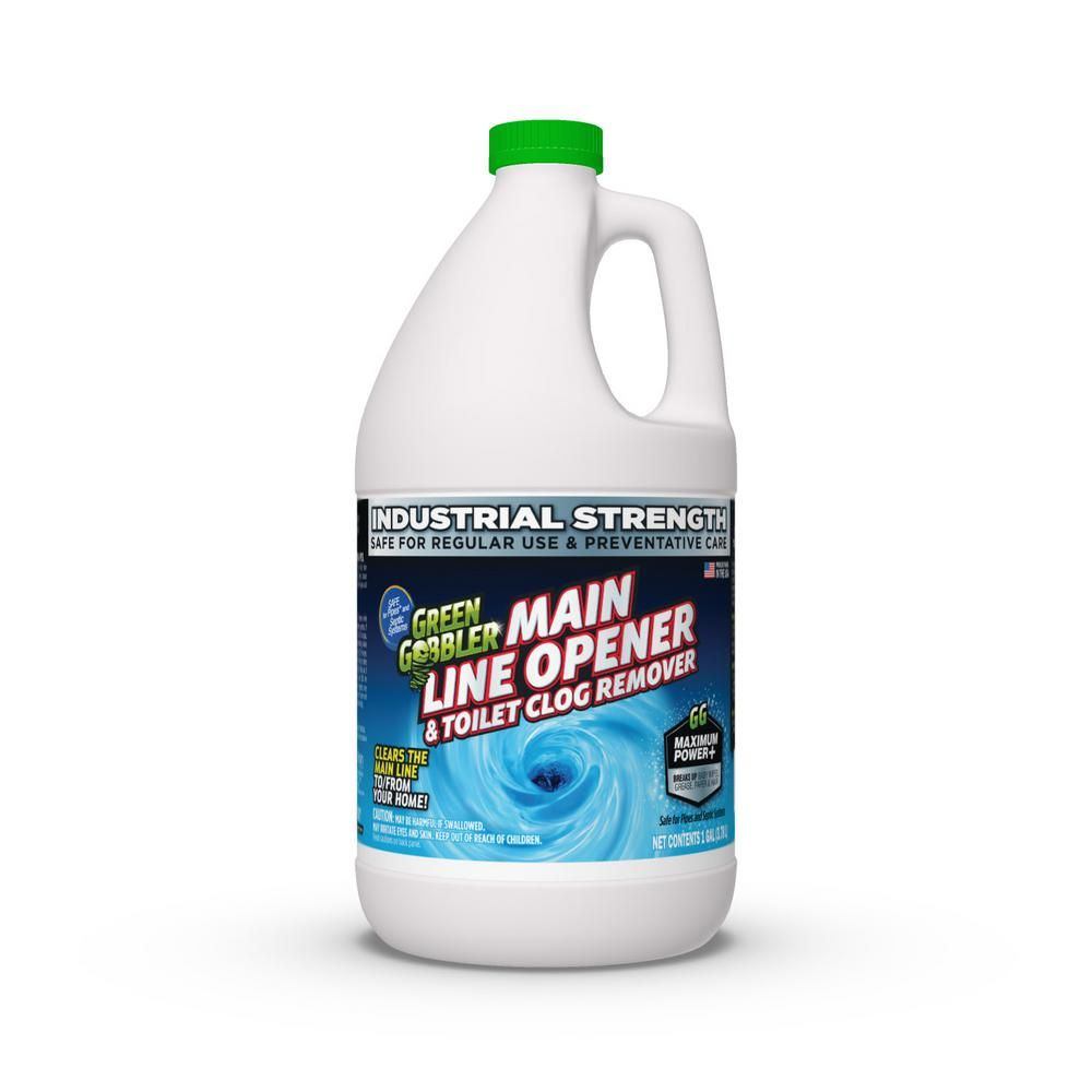 Green Gobbler 1 Gal Main Line Cleaner And Clear Drain Opener Ggml128 Drain Openers Drain Cleaner Biodegradable Products