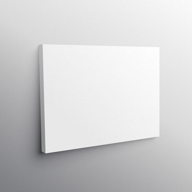 Empty canvas mockup Free Vector My Art Institute Pinterest - free blank tri fold brochure templates