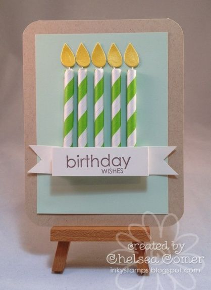 Straw Candles by spredbirds - Cards and Paper Crafts at Splitcoaststampers