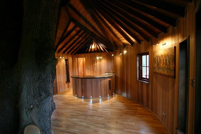 inside of simple tree houses. British Design Firm Blue Forest Has Developed \u0027living The Highlife\u0027, Which Is Comprised Of Two Treehouses, With One Designated For Children And Other F Inside Simple Tree Houses