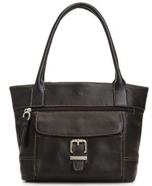 Giani Bernini Handbag Pebble Leather Buckle Tote Women S Handbags