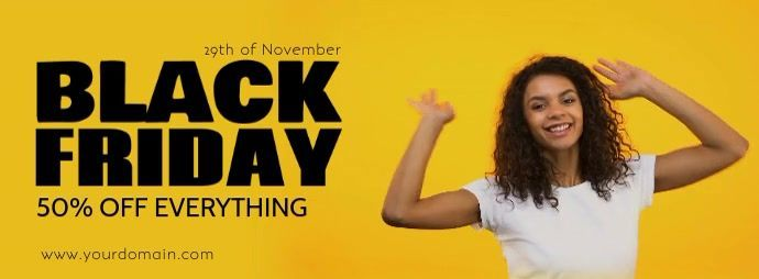 Black Friday Sale Happy Women Dancing Video #blackfridayfunny Customize this design with your video, photos and text. Easy to use online tools with thousands of stock photos, clipart and effects. Free downloads, great for printing and sharing online. Facebook Cover Photo. Tags: black friday advert price off % discount., black friday advertising video header cover, black friday sale funny women dance happy, black friday sale happy women dancing, black friday video advert promotion marketing, Reta #blackfridayfunny