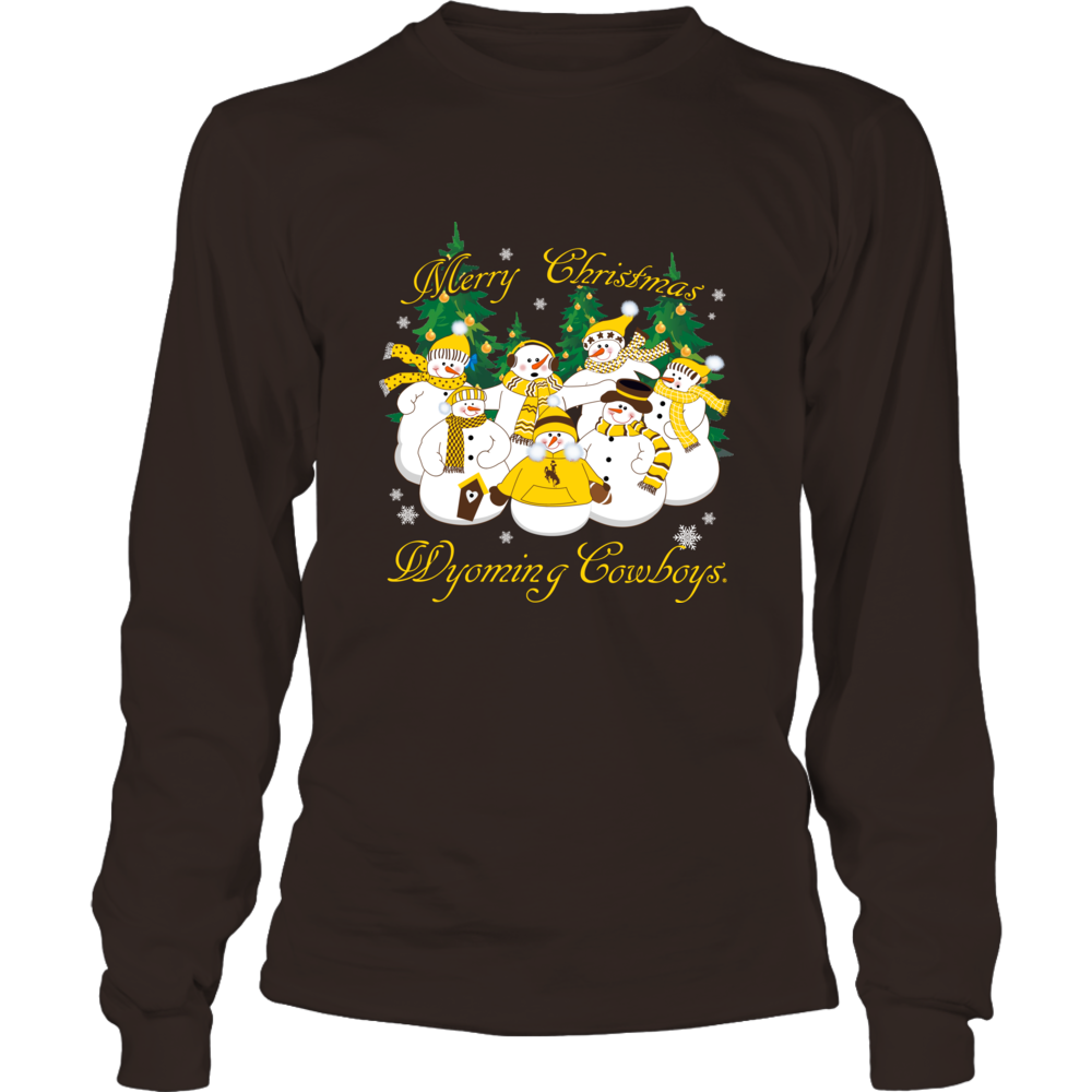 Wyoming Cowboys Merry Christmas Snowman Comfy hoodies